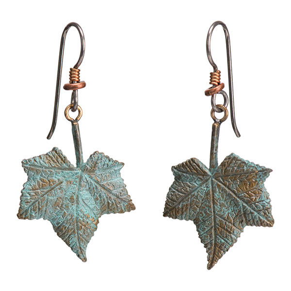 Thimbleberry Earrings, Bronze