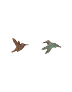 Rufous Hummingbird Earrings, Post