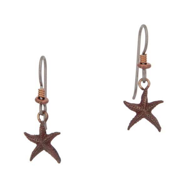 Starfish Earrings, Bronze