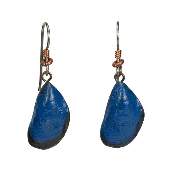 Penn Cove Mussel Earrings, Bronze