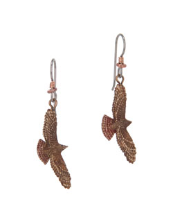 Red-tailed Hawk  Earrings, Fishhook