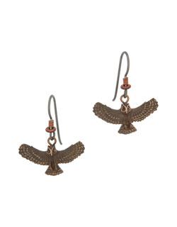 Great Horned Owl  Earrings, Fishhook