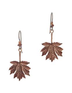Maple Leaf Earrings, Fishhook