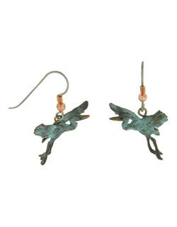 Gliding Heron Earrings