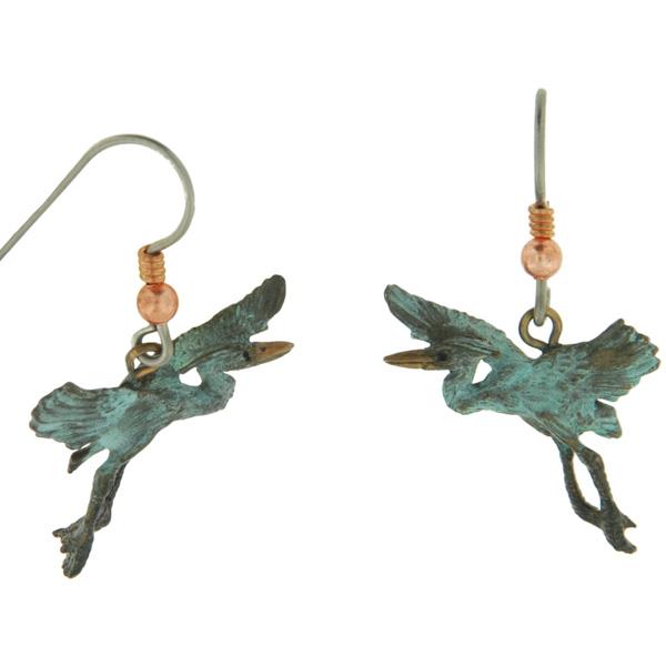Gliding Heron Earrings by Cavin Richie