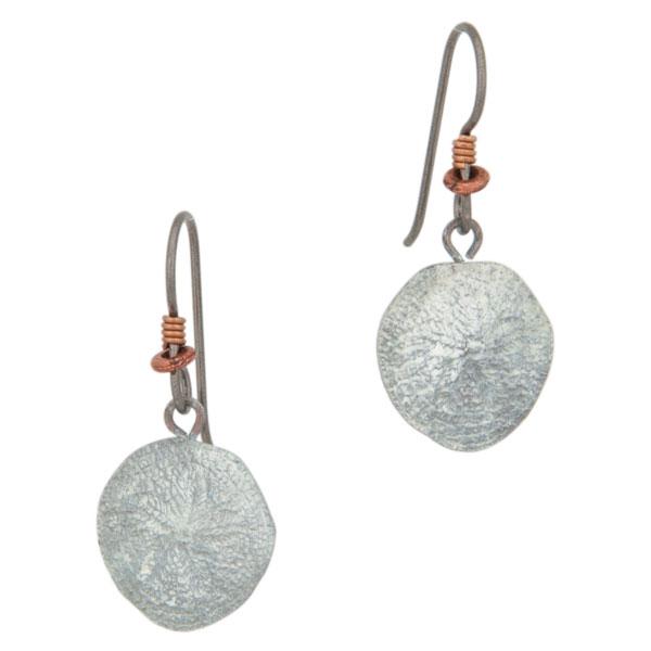 Sand Dollar Earrings, Bronze