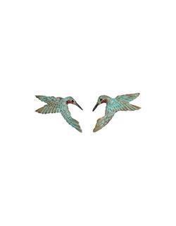 Hummingbird Heart Earrings, Post