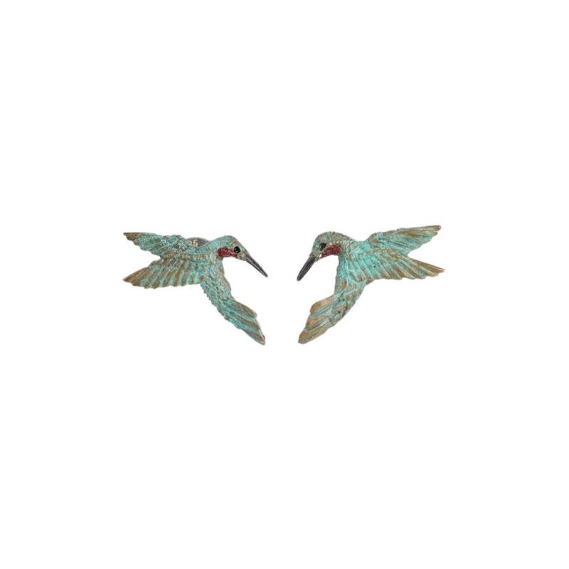 Hummingbird Heart Earrings