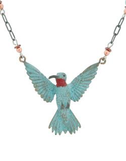 3-D Hummingbird Necklace