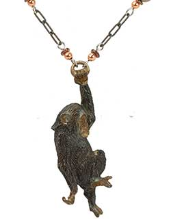 Swinging Chimp Necklace