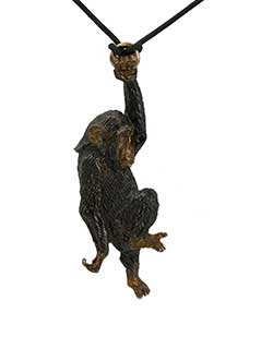 Swinging Chimp Zipper Pull