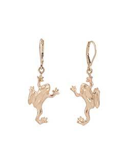 Tree Frog Earrings, 14 kt. Gold