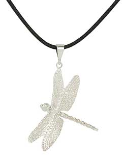Dragonfly Pendant, Sterling Silver