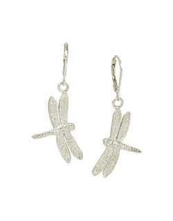 Dragonfly Earrings, Sterling Silver