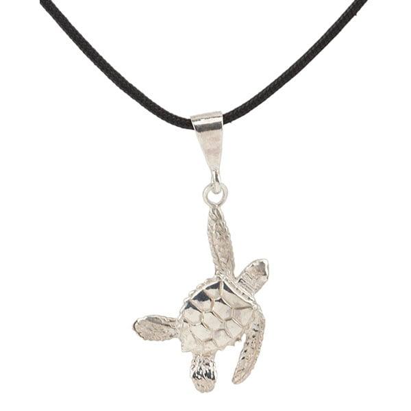 Sea Turtle Necklet, Left, Sterling Silver