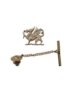 Welsh Dragon Tie Tack, 14 kt. Gold