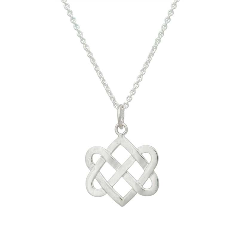 Never Ending Hearts Necklet, sterling silver with 18 inch sterling chain