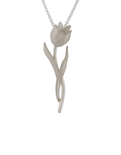 Pink Diamond Tulip Necklet