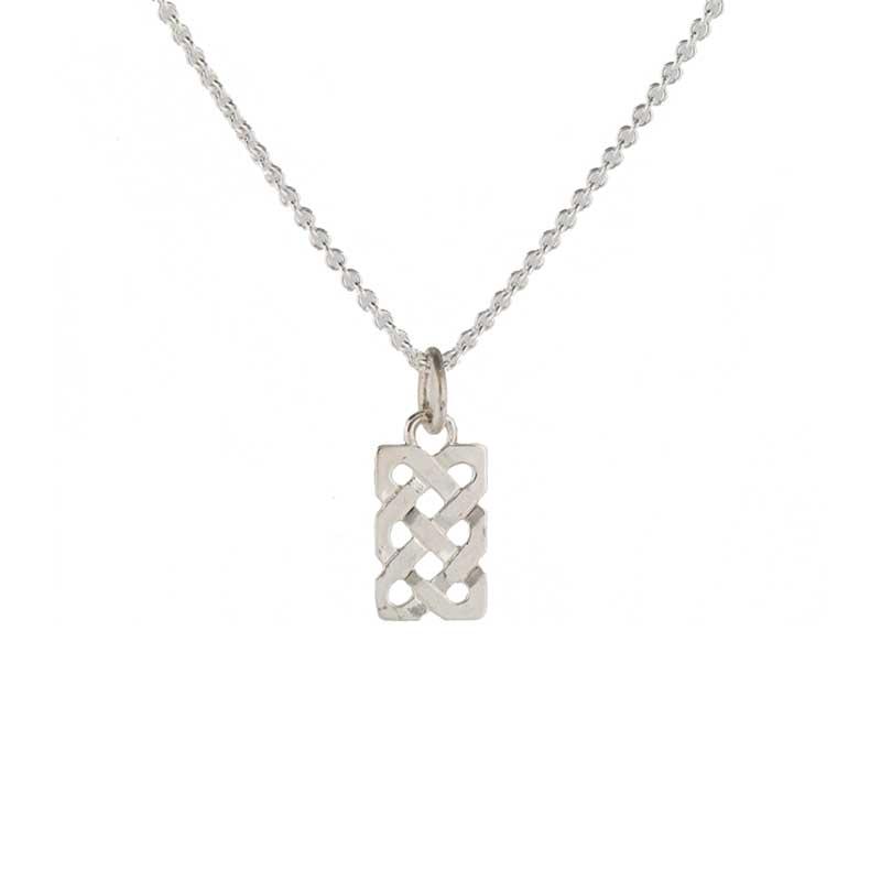 Celtic Sailor's Knot Necklet, Sterling silver