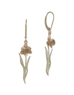 Tenby Daffodil Earrings, 14 kt. Gold