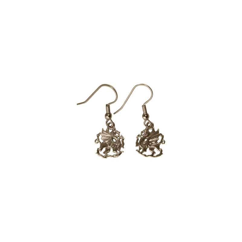Gold Dragon Earrings, Fishhook