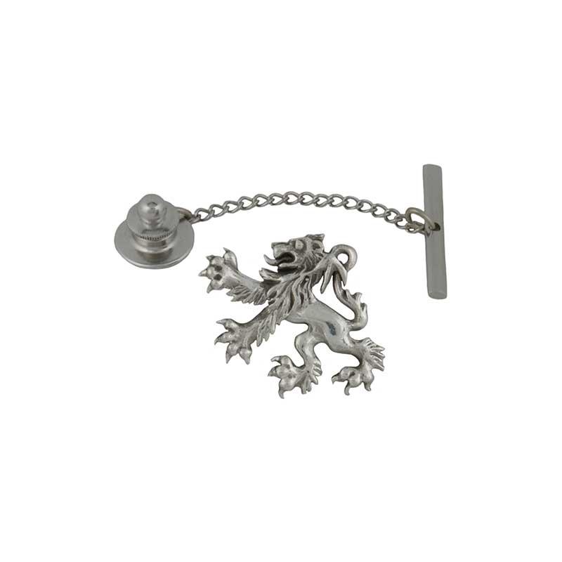 Scottish Lion Tie Tack, Sterling Silver