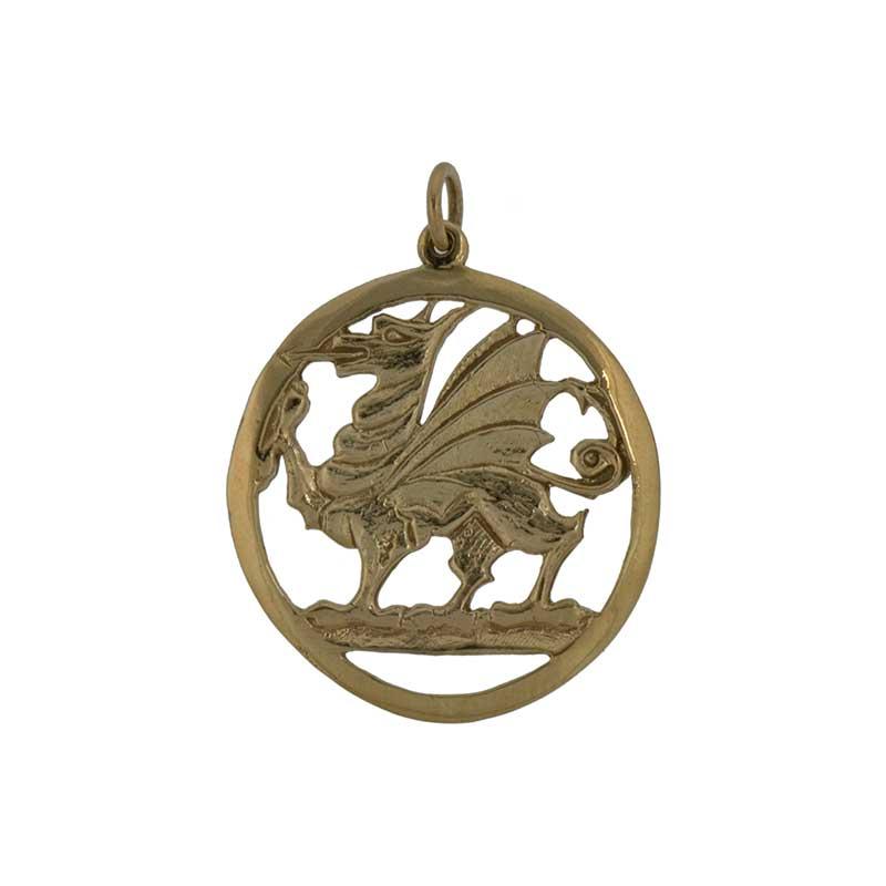 Welsh Dragon Pendant, 14 kt. Gold
