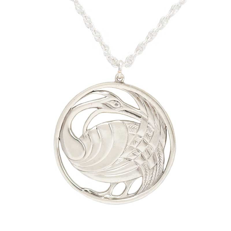 Aderyn Celtaidd Pendant in Sterling Silver