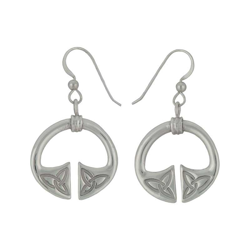 Spade Earrings, Sterling Silver
