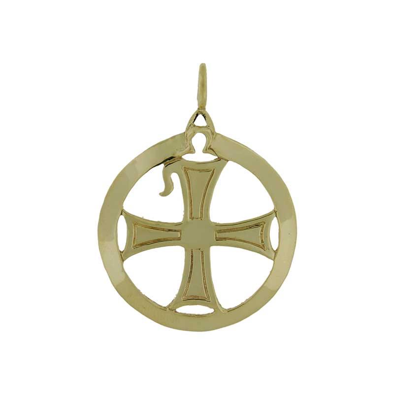 Chi-Rho Pendant, 14 kt. Gold