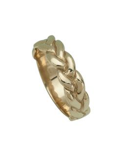 Gold Trinity Ring, Sizes 7-1/2 - 12