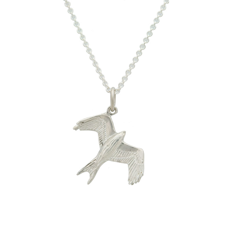 Barcud Pendant, sterling silver