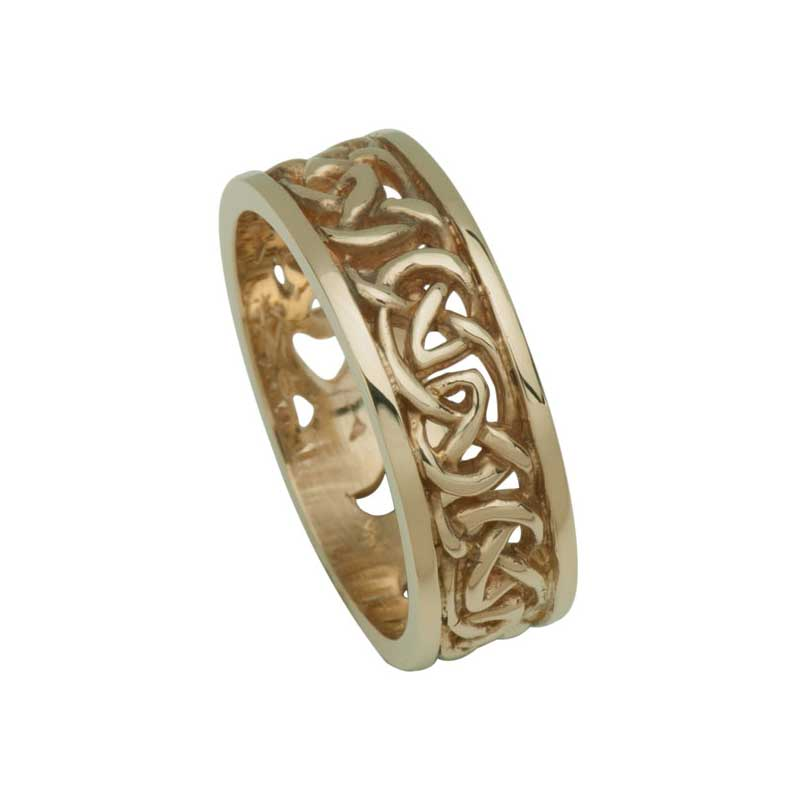 Celtic Wedding Ring, Back View