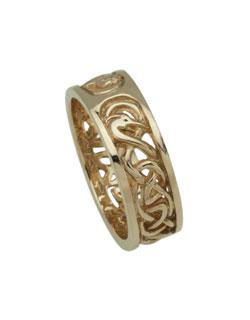 Celtic Wedding Ring, Gold, S