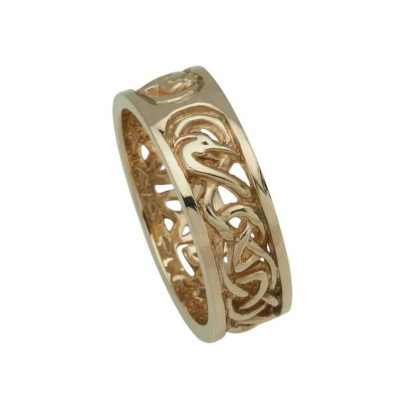 Celtic Wedding Ring, Yellow Gold