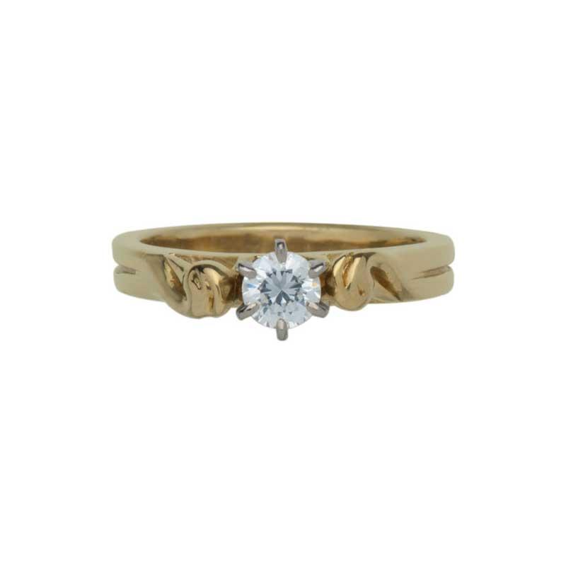 Celtic Engagement Ring 1/3 ct Diamond
