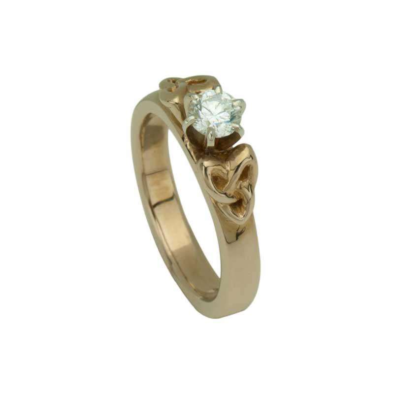 Triskele Anniversary Ring with 1/3 carat diamond