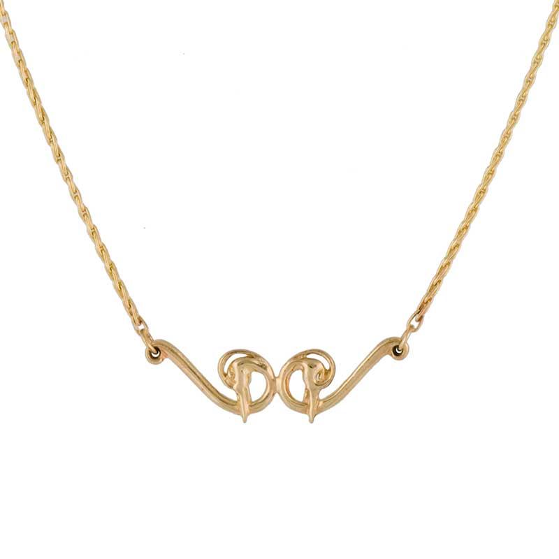 Heron Necklace, 14 kt. Gold