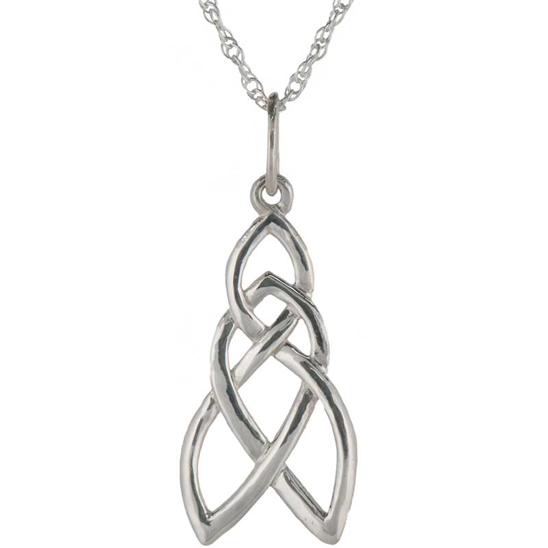 Celtic Pathway Pendant, Sterling silver
