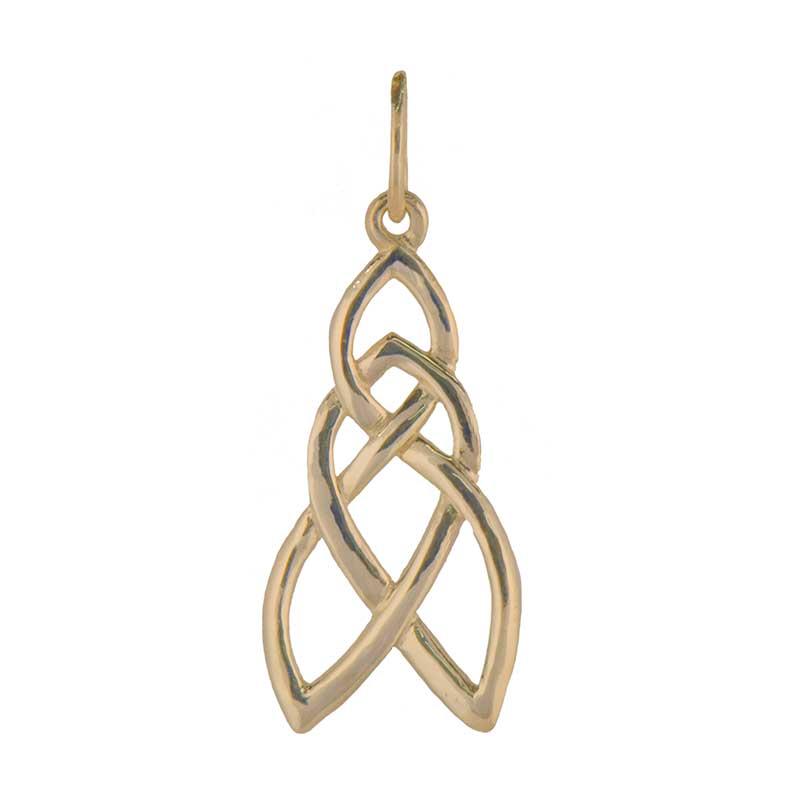 Celtic Pathways Pendant, 14 kt. Gold