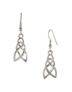 Celtic Pathway Earrings, Sterling