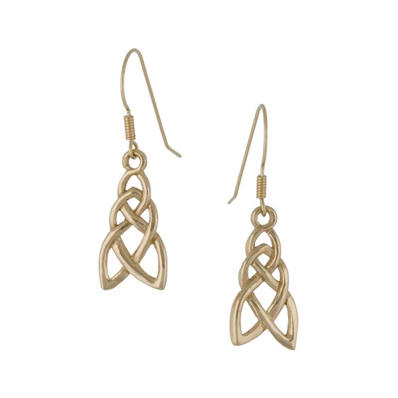 Celtic Pathway Earrings, 14 kt. Gold