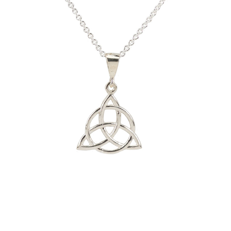 Trinity Circle Necklet, Sterling Silver