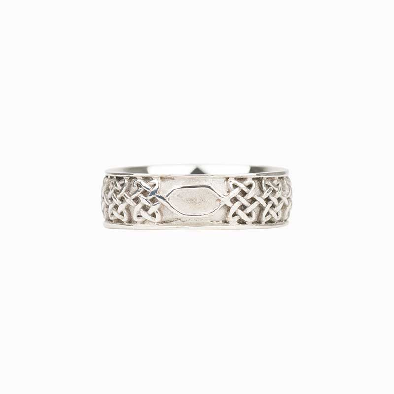 Never Ending Hearts Ring :  The endless knot flattens along a small segment at the back  for any future size changes.