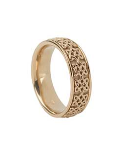 Never Ending Hearts Ring, Gold, L