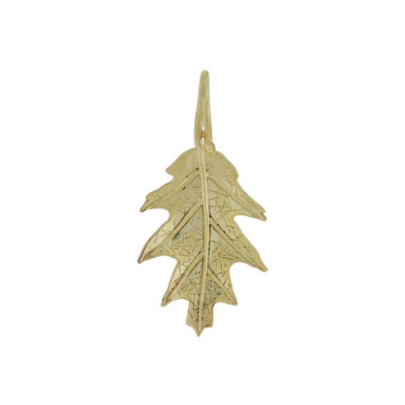 Gold Oak Leaf Pendant