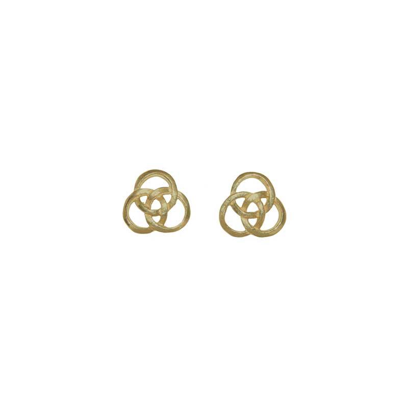 Triple Circle Earrings, 14 kt. Gold