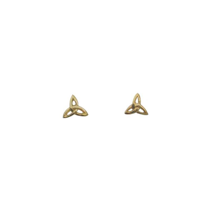 Triskele Stud Earring, 14 kt. Gold