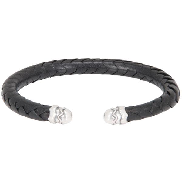 Leather Cuff Bracelet, Black