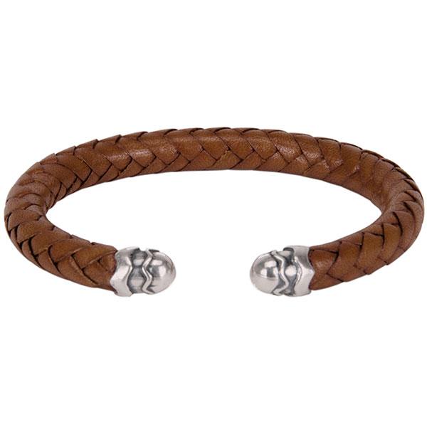 Leather Cuff Bracelet, Saddle Tan